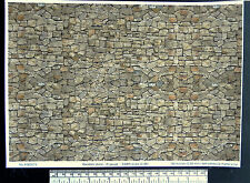 O gauge (1:48 scale) random stone self adhesive vinyl - A4 sheet
