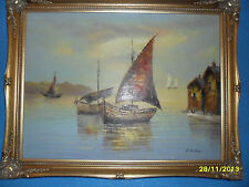 Albert Andre Antique Oil Painting Canvas France Rare Artist Art Andre Albert