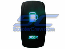 UTV Truck Car Beer Rocker Switch Blue Led On Off Toggle Square 5 prong Dune Sand