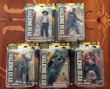 WALKING DEAD TV SERIES 2 COMPLETE SET RICK GRIMES SHANE WALSH AMC MCFARLANE TOYS