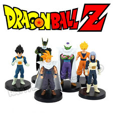 6Pcs Dragon Ball Z Action Figures DBZ Goku Vegeta Trunks Piccolo Cell Anime Toy