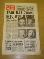 MELODY MAKER 1962 MARCH 24 TRAD JAZZ KENNY BALL SHADOWS CLIFF RICHARD ELVIS +