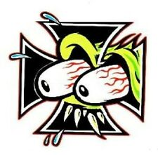 RAT FINK IRON CROSS STICKER / DECAL