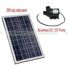 New 25W Poly Solar Panel with Brushless DC12V Pump Hot Water Circulating Pump