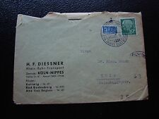 ALLEMAGNE (rfa) - enveloppe 6/10/1954 (cy90) germany