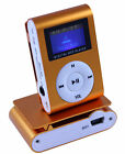 Mp3 Player mit LCD Akku Mini Clip Musik Metall Micro SD Zubehörpaket Orange