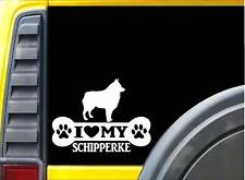 Schipperke Bone Sticker L020 8 inch dog rescue decal