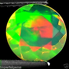 1.40 Ct Natural Ethiopian Faceted Opal Gemstone Multi Color Round Cut