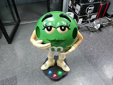 Green M&M Character Store Display Candy Statue