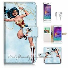 Samsung Galaxy Note 5 Flip Wallet Case Cover! P1911 Wonder Woman