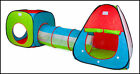Childrens, Kids Pop Up Play Tent and Tunnel Set - NEW