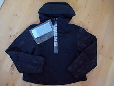 ALEXANDER WANG H&M short black logo anorak jacket with hood UK 8 EU 34 US 4