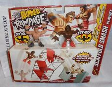 WWE Rumblers Rampage The Miz and Kofi Scaffold Play Set  Mattel Mini Figures