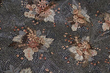 "Vintage  ""Diane"" Cotton Drapery Upholstery Fabric Per Yard 514-423292"