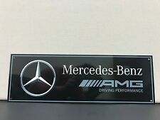 Mercedes amg racing advertising garage sign baked