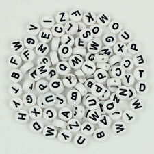 500 Mixed Acrylic Flat Round Disc Alphabet Letter Spacer Beads 7x4mm,Pick Color
