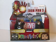 Marvel MINIMATES WAR MACHINE & MAYA HANSEN Action Figures NIP Wave 49 Iron Man 3