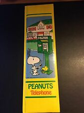 VINTAGE PEANUTS / SNOOPY TELEPHONE BOOK -  1958 /1965 -Butterfly Originals