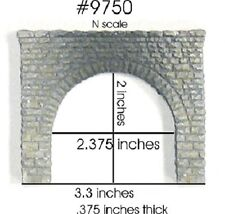 2 pack Chooch Painted Double track Tunnel Portals 9750 N scale