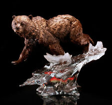 "Starlite Originals ""Solitary Hunter""  Brown Bear Art Sculpture Statue - Cantrell"