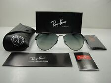 RAY-BAN AVIATOR CARBON FIBRE SUNGLASSES RB8307 029/71 GUNMETAL/GRAY LENS 58MM