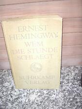 Wem die Stunde schlägt, ein Roman von Ernest Hemingway