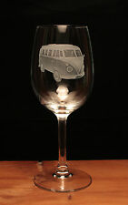 VW Volkswagen camper van split screen splitty engraved Wine Glass gift present