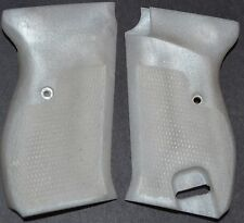 Walther P38, Mauser P38 pistol grips pearl white plastic with screw