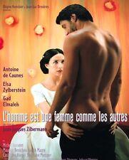 Affiche 40x60cm L'HOMME EST UNE FEMME COMME LES AUTRES 1998 de Caunes NEUVE