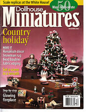 DOLLHOUSE MINIATURES MAGAZINE DECEMBER 2002 ~ COUNTRY HOLIDAY
