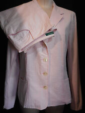 Ralph Lauren 2 Piece Pants Suit Blazer Jacket Sz 6 M Medium Pink & White Stripe