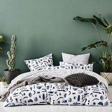 MOJAVE SILVER CACTUS PALM SUPER KING  bed QUILT DOONA DUVET COVER SET NEW ADAIRS
