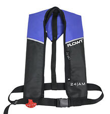 Flowt A/M 24 Automatic/Manual Inflatable Life Jacket Lifevest (PFD) - Blue/Black