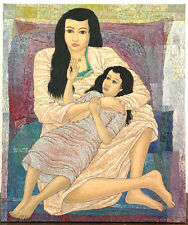"""ORIGINAL BALINESE PAINTING, BY WARSONO, OIL ON CANVAS, """"LOVE"""""""