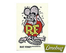 "Mooneyes Rat Fink Purple 6"" Die Cut Decal Sticker Stickers Ed Roth VW Camper Bug"