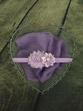 Apoyos de la foto Recién Nacido Niñas Conjunto Abrigo De Mohair Con Diadema Púrpura