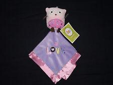 NWT Circo Pink Plush Owl Love Purple Security Blanket Baby Girl Lovey
