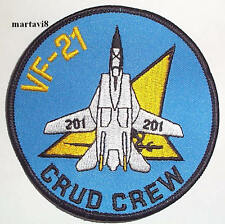US.Navy `VF-21 CRUD CREW` Tomcat Cloth Badge / Patch (F14-35)