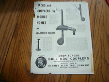 Hammer Blow Tool Company Jacks & Couplers for Mobile Homes - Vintage -