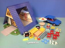 (O3230.4) playmobil Maison bleue de vacances ref 3230