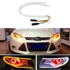 2x 60cm Audi Tube Style Switchback DRL LED Strip Amber Sequential Turn Signal