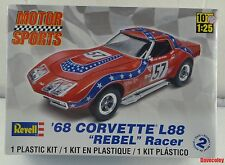 Nuevo Sellado De Fábrica Revell 68 Corvette L88 Rebel Racer 1:25th Escala Modelo Kit de coche