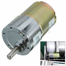 12V DC 300RPM 37GB High Torque Gear Box Electric Motor 37mm Diameter Silver New