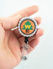 "Disney Pixar Up Wilderness Grape Soda Bottle Cap Pin Badge ""Retractable ID Badge"