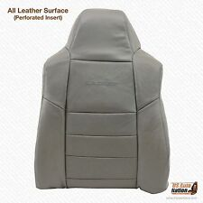 2006 Ford F250 7.3L Lariat Driver Lean Back PERFORATED Leather Seat Cover Gray