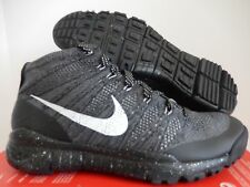 NIKE FLYKNIT TRAINER CHUKKA FSB BLACK-DARK GREY-CHARCOAL SZ 11 [625009-002]