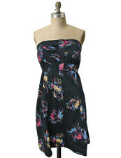 Urban outfitters Kimchi Blue XS Strapless floral Dress Black multi Pleated Bust