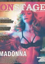 ON STAGE #52 2012 ITALIAN MUSIC MAGAZINE (NEWSPAPER) cover MADONNA