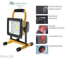 20W PORTABLE HI POWER WHITE LED WORK LIGHT RECHARGEABLE FLOOD LIGHT IP44