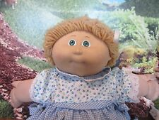 "Cabbage Patch Kids 14"", Xavier Roberts baby doll blonde hair blue eyes"